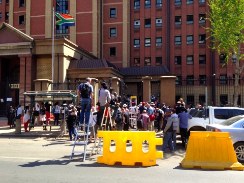 11_Ready and waiting_photographers waiting for Pistorius to emerge.JPG
