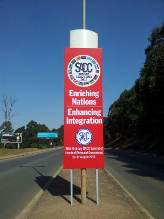 SADC sign in Swaziland